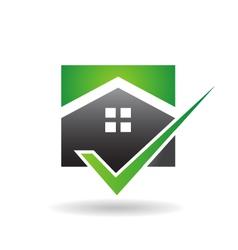 House check logo vector