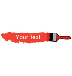 Brush red vector