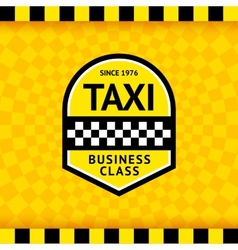 Taxi symbol with checkered background - 23 vector