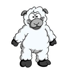 Funny woolly cartoon sheep vector