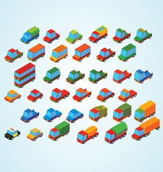 Isometric premium cars vector