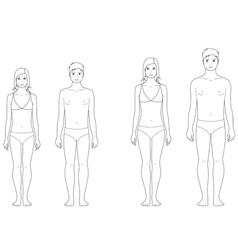 Teenager figure vector