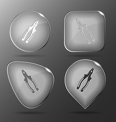 Combination pliers glass buttons vector