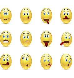 Set crazy emoticons vector