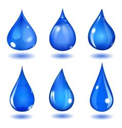 Blue drops vector