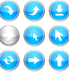 Arrows round icons vector