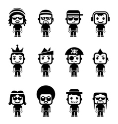 Avatar character set vector