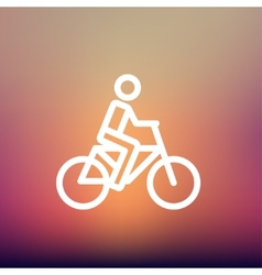 Racing bike thin line icon vector