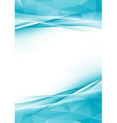 Modern crystal abstract border folder design vector