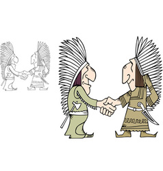 American indians vector