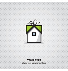 Gift home icon vector