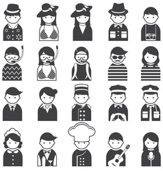 Various people symbol icons hotel and travel set vector