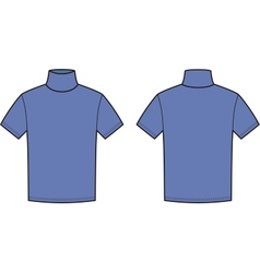 Short-sleeve turtleneck vector