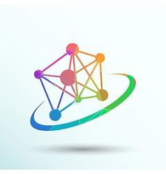 Molecule icon atom chemistry symbol element vector
