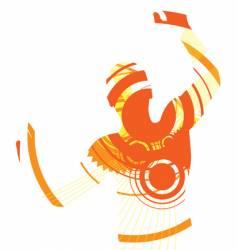Dancer abstract vector