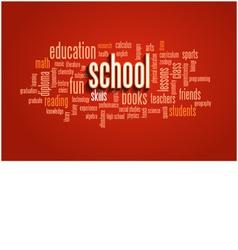 School word cloud bubble tag tree vector