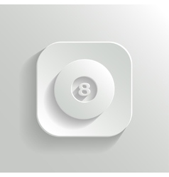Billiard icon - white app button vector