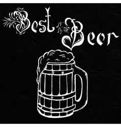 Hand drawn sketch of beer vector