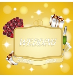 Banner to represent a weddingeps 10 vector