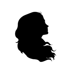 Silhouette of woman vector