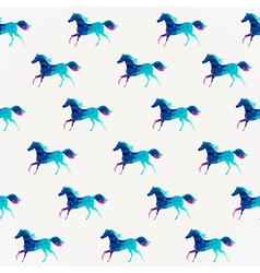 Horse seamless pattern triangle horse abstract vector