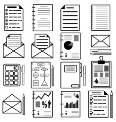 Statistics and analytics file icons vector