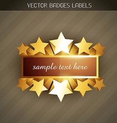 Shiny golden label vector