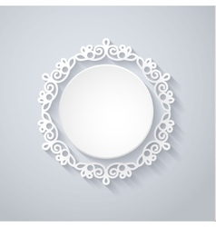 Paper decor with shadow on white vector