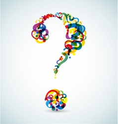 Abstract question mark vector