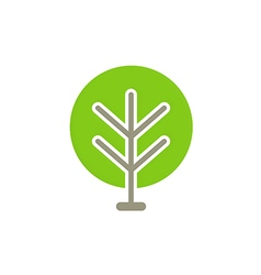 Green tree abstract icon logo vector