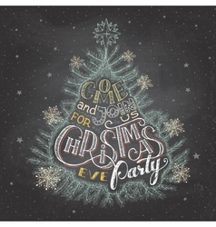 Christmas eve party invitation chalkboard vector