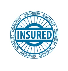 Abstract round logo for insurance vector