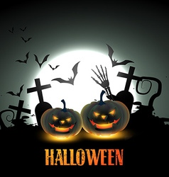 Scary halloween design vector