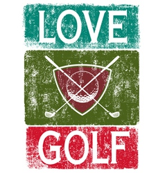 Golf lover vector