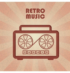 Retro tape recorder vector