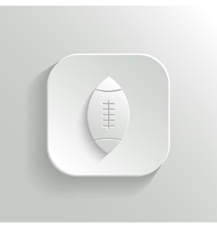 Football icon - white app button vector