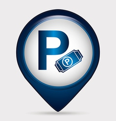Parking sign vector