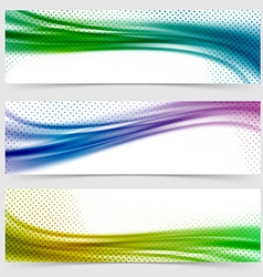Soft smooth abstract bright wave line header vector