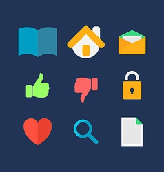 Icons for website vector