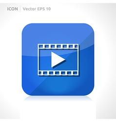Video movie icon vector