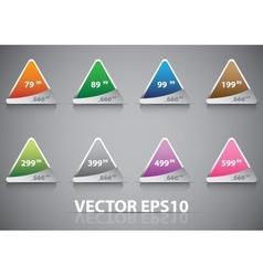 Icon set color vector