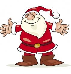 Santa claus with open arms vector
