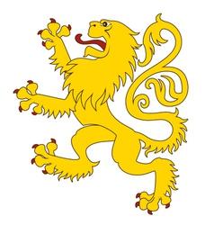 Heraldic lion 24 vector
