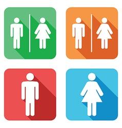 Flat toilet signs vector