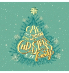 Christmas eve party invitation vector