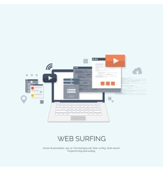 Flat computing background vector