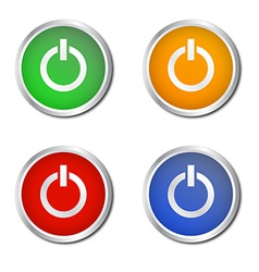 Set of power style buttons vector