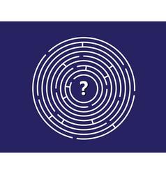 Round labyrinth vector
