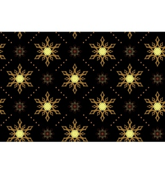Seamless black texture with snowflakes vector