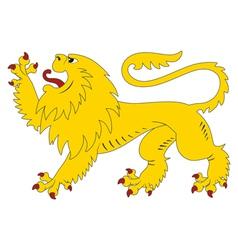 Heraldic lion 28 vector
